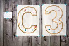 Confetti Birthday Party | confetti art posters.