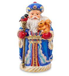 """Шкатулка """"Дед Мороз"""" SMT-07 (Nobility)   Бренд: Nobility (Гонконг);    Страна производства: Китай;   Материал: металл;   Длина: 4,5 см;   Ширина: 4 см;   Высота: 9 см;   Вес: 0,38 кг;"""