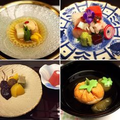 Kaiseki cuisine  The Japanese foods have various names and kinds. From a casual dish to a high-quality dish both the price and the ranks are different. Kaiseki cuisine is Japanese food of the highest grades. The dish looking like a persimmon is not a persimmon of the fruit. Using the pickpocket body of the fish I make the form of the persimmon of the fruit to express the color of the four seasons. The Japanese food needs the delicate skill. 懐石料理料理 彩り味も最高です 秋だね  #instafollow #instagood #food…