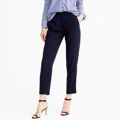 In Olive Moss color - similar to current black crepe pants   J.Crew+-+Matte+crepe+trouser