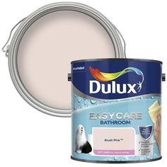 Find Dulux Easycare Bathroom Denim Drift Soft Sheen Paint - at Homebase. Visit your local store for the widest range of paint & decorating products. Blush Bathroom, Grey Bathroom Paint, Mold In Bathroom, Bathroom Ideas, Bathrooms, Bathroom Closet, Family Bathroom, Bathroom Wall, Bathroom Inspiration