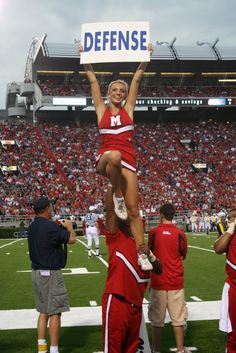 cheer, Ole Miss, college cheerleading from Kythoni's Cheerleading: Collegiate board http://pinterest.com/kythoni/cheerleading-collegiate/ m.34.4 #KyFun