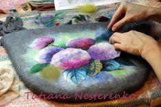 Мастер-класс по мокрому валянию сумки с акварельным рисунком - Ярмарка Мастеров - ручная работа, handmade
