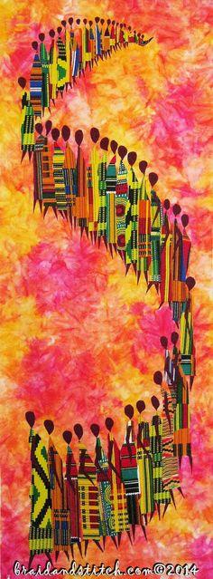 LIVRAISON GRATUITE POUR TOUS LES KITS !  Oui!! Les nouveaux modèles sont ici!! Sous notre nouveau nom de marque matelassé non-sens, à notre série de ligne neuf Asabone 2, tresse et point est venu avec une grande nouvelle et authentique africaine danse silhouette couette ligne de motif, une ligne de motif africain batteur, ainsi qu'une ligne de silhouette soleil africain et aussi par demande populaire, tresse et point maintenant porte une ligne de motif Masai. Tous les choix de tissu est…