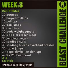 Spartan Training: Beast Challenge (Week 3)