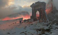Hell Gate, Erikas Perl on ArtStation at https://www.artstation.com/artwork/DOoBR