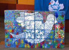 Álbum - Google+ Peace Crafts, Arte Elemental, Harmony Day, Collaborative Art Projects, School Murals, Peace Art, Remembrance Day, Jewish Art, Process Art