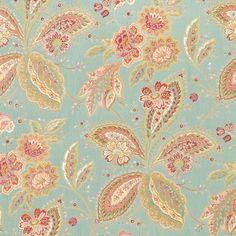 Swavelle / Mill Creek Rue de Bac Aqua Fabric
