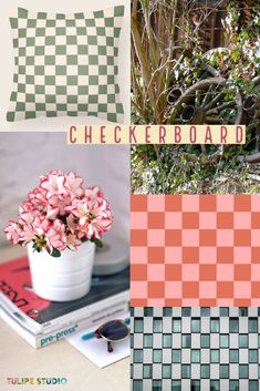 The checkerboard home decor trend is big for Fall 2021. Try rugs, pillows, ceramics, and a variety of soft colors to give your decor a modern refresh. Soft Colors, Pillow Covers, Ceramics, Pillows, Studio, Rugs, Fall, Modern, Decor