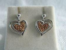 Clogau Silver & Welsh Gold Welsh Royalty Heart Stud Drop Earrings