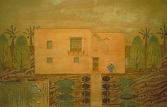 Hassan Fathy gouache drawing