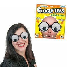These googly eye glasses turn your gaze into a silly, crazy stare to surprise and delight your friends. Plastic novelty glasses feature a mesh iris that lets you see through in a limited fashion. Be the life of your Halloween party or any crazy party year round. Comes on illustrated blister card.