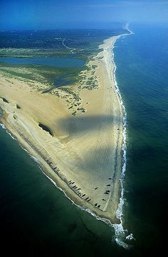 Aerial photo of Cape Hatteras, Dare County, North Carolina, NC United . Outer Banks North Carolina, Outer Banks Nc, North Carolina Homes, North Carolina Beaches, Hatteras Island, Enchanted, Aerial View, Belle Photo, Vacation Spots