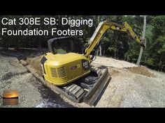 Cat 308E SB Excavator: Digging Foundation Footings - YouTube