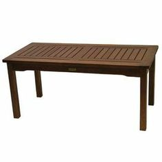 "Anchor your veranda or patio seating arrangement with this classic indoor/outdoor coffee table, crafted from eucalyptus wood and showcasing a brown finish.  Product: Coffee tableConstruction Material: Brazilian eucalyptus hardwoodColor: BrownFeatures: Suitable for indoor or outdoor useDimensions: 17.5"" H x 39.25"" W x 19.5"" DCleaning and Care: Wipe with linseed oil or hardwood oil two to three times per yearAssembly:Easy assembly required"