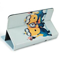 Fashionable Despicable Me 2 Style Aritficial Leather Case with Stand Function for 7 inch Tablet