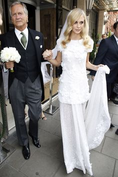 Poppy Delevingne Weds in Custom Chanel Haute Couture Gown - Marie Claire