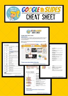 Google Slides Cheat Sheet for Teachers and Students! This quick resource guide will help you and your students make the most of Google Slides.