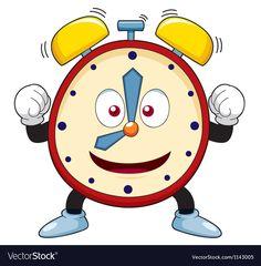 Cartoon alarm clock vector image on VectorStock Bear Vector, Vector Free, Cute Animal Drawings, Cartoon Drawings, Smileys, Evil Teddy Bear, Dinosaur Outline, Fun Educational Games, Cactus Vector