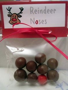 WHAT AN IDEA! Buy NOW your holiday gifts and make this Christmas easy! Christmas gifts for preschool - maltesers with one aniseed ball. A very cheap gift.