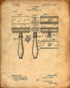 Hey, I found this really awesome Etsy listing at https://www.etsy.com/listing/203381492/patent-print-of-a-razor-patent-art-print: