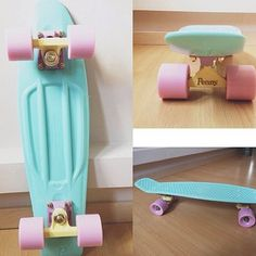 I want this pastel Penny board soooo bad!