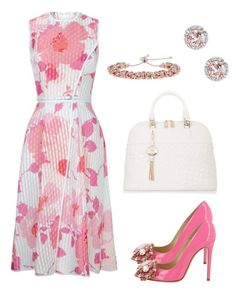 """""""Pink & White"""" by taniaisabel-1 on Polyvore featuring Victoria Beckham, Versace, Delmar, Milor and GEDEBE"""
