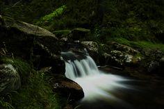 Waterfall on the Mumlava river in Krkonoše (Czech republic)
