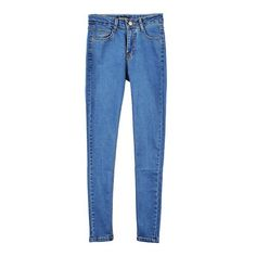 Blue Basic Skinny Jeans (€27) ❤ liked on Polyvore featuring jeans, pants, bottoms, clothes - pants, skinny fit jeans, skinny fit denim jeans, blue skinny jeans, skinny leg jeans and denim skinny jeans