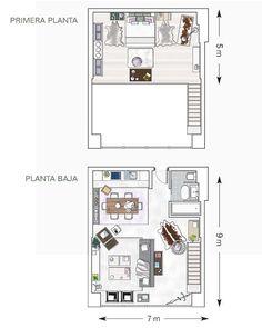 A high-flying loft Plans Loft, Loft Floor Plans, House Floor Plans, Mini Loft, Small Loft Apartments, Studio Apartment Layout, The Plan, Apartment Plans, Garage Loft Apartment