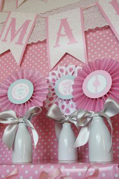 Pink Angelina Ballerina Girl Ballet Dance Tutu Baby Shower Planningpink showers Natalie look at the name on there! Baby Shower Desserts, Baby Shower Parties, Baby Shower Themes, Baby Shower Decorations, Shower Ideas, Shower Centerpieces, Angelina Ballerina, Ballerina Birthday Parties, 90th Birthday Parties