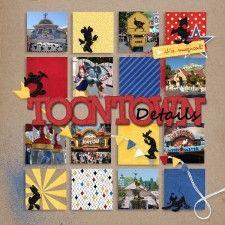 Scraplift challenge 38.5 - Toontown Details - MouseScrappers - Disney Scrapbooking Gallery