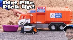 Garbage Truck Videos For Children l Dirt Pile Pickup And Dump l Garbage ...