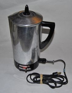 Vintage REMINGTON Adjustable Coffee Percolator 12 cup Made in USA
