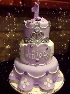 Sofia the first cake....cute!