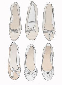 Ballet flat illustrations. Auf laurenconrad.com http://www.pinterest.com/CraftCandy/illustrations/