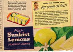 Sunkist Lemons Advertisement 1953 Family Circle