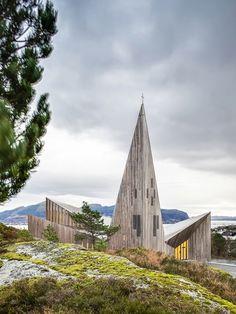 Church of Knarvik in Norway by Reiulf Ramstad Arkitektur
