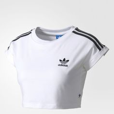 Mode adidas crop high - Lulu , Abstract: A surprising styled platinum cuff Teenage Outfits, Teen Fashion Outfits, Sporty Outfits, Trendy Outfits, Cute Outfits, Adidas Shirt, Adidas Outfit, Top Adidas, Half Shirts