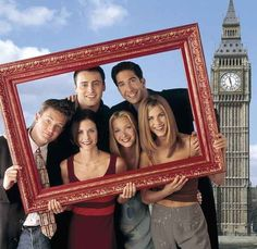 "Oh, London. | 27 Rare Photos Of The Cast Of ""Friends"" Will Make You Wish It Was 1994 All Over Again"