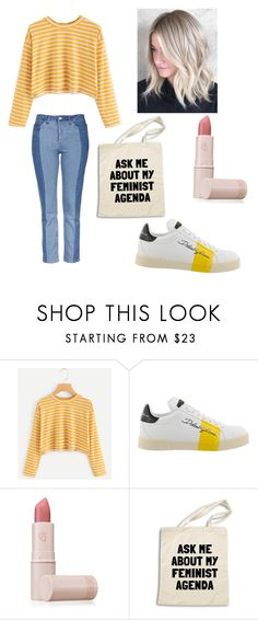 """Ask Me About My Feminist Agenda"" by queenofall135 ❤ liked on Polyvore featuring Dolce&Gabbana and Lipstick Queen"