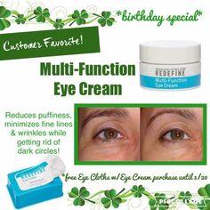 Free eye cloths when you buy eye cream! What a deal!