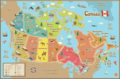 WallPops Kids Canada Dry Erase Map Decal at Lowe's. This clever dry-erase map of canada is fantastic for kids decor, and fun in a classroom! The educational and engaging kids map design features bright Geography For Kids, Maps For Kids, Canada For Kids, Ontario, Canada Wall, Wall Murals Canada, Voyage Canada, Dry Erase Wall, Map Design