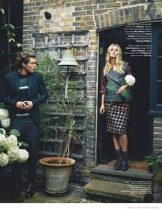 Love You in the Fall--Things get romantic for the October issue of Marie Claire Netherlands, where the magazine takes a look at fall fashions with a romant