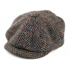 62245f01 City Sport Donegal Tweed Newsboy Cap - Brown-Tan Flat Cap, Gents Fashion,