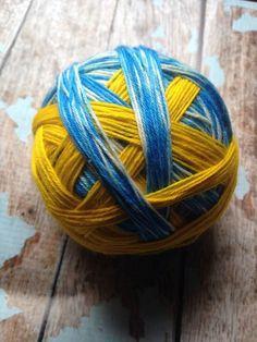 Sunny skies self striping sock yarn by CuppycakeYarnz on Etsy, $30.00