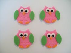 Fondant Owl Cupcake Toppers by robin33smith on Etsy, $15.95