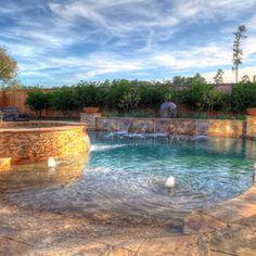 Casey - mediterranean - pool - houston - Absolutely Outdoors