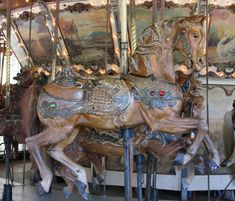 Griffith Park Merry-Go-Round Looff Outside Row Jumper National Carousel Association Logo © Rick Ellis Date of picture: September 2006 Horse Ribbons, Carosel Horse, Griffith Park, Wooden Horse, Painted Pony, Merry Go Round, Art Design, Design Ideas, Antique Toys
