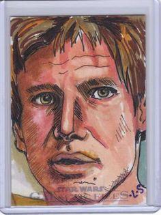Star Wars Galactic Files Lark Sudol 1/1 Color Sketch Card Han Solo Amazing